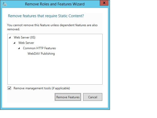 Remove Features page